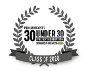 Pudsey Landscapes 30 under 30 logo.